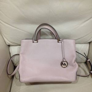 Michael Kors Light Pink Satchel Purse Bag